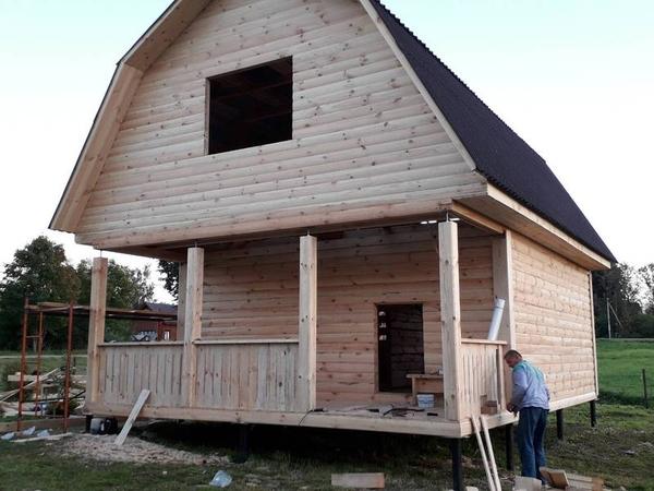 Дом сруб Арнольд 6х6м из бруса 3
